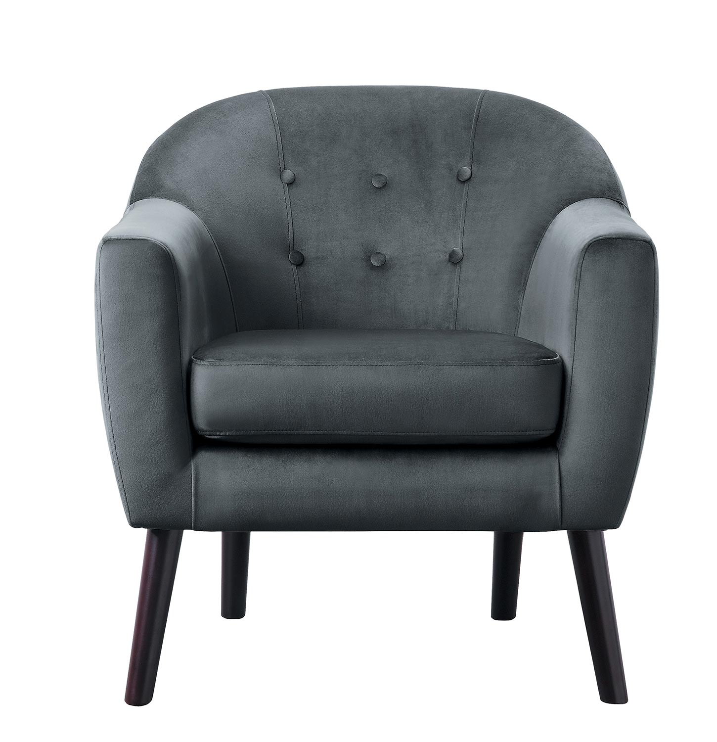 Homelegance Quill Accent Chair - Gray
