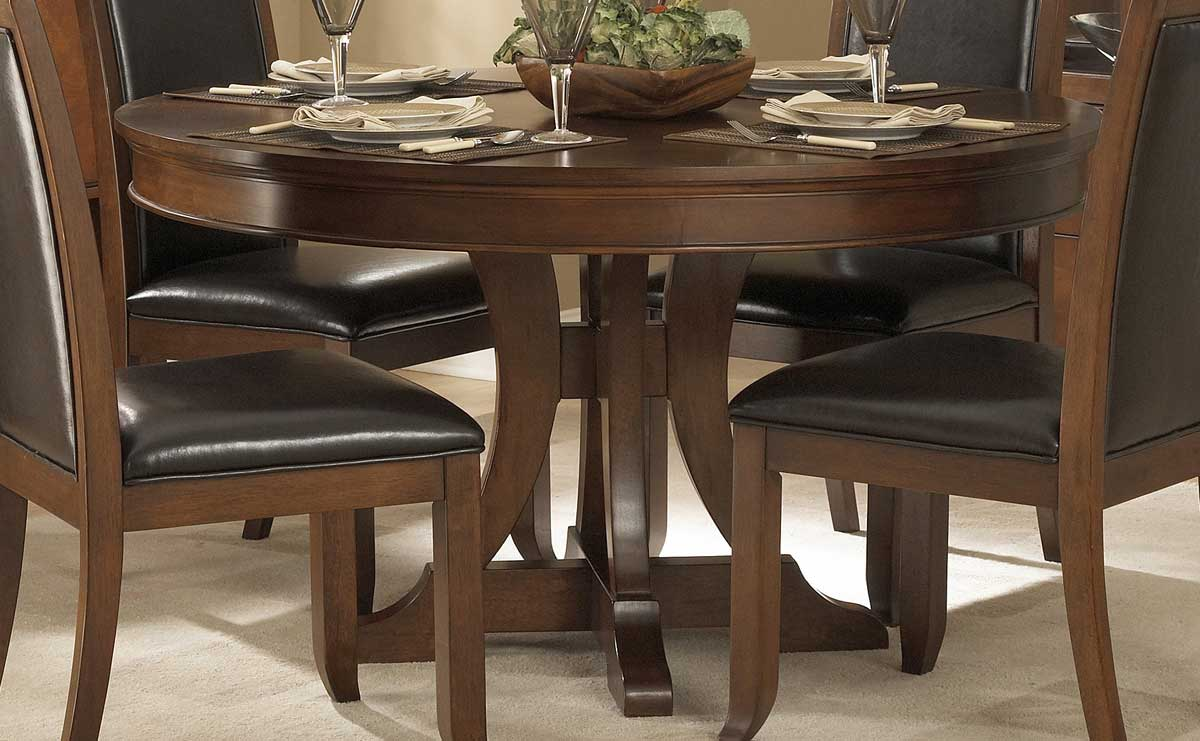 homelegance avalon round pedestal dining table 1205 54. Black Bedroom Furniture Sets. Home Design Ideas