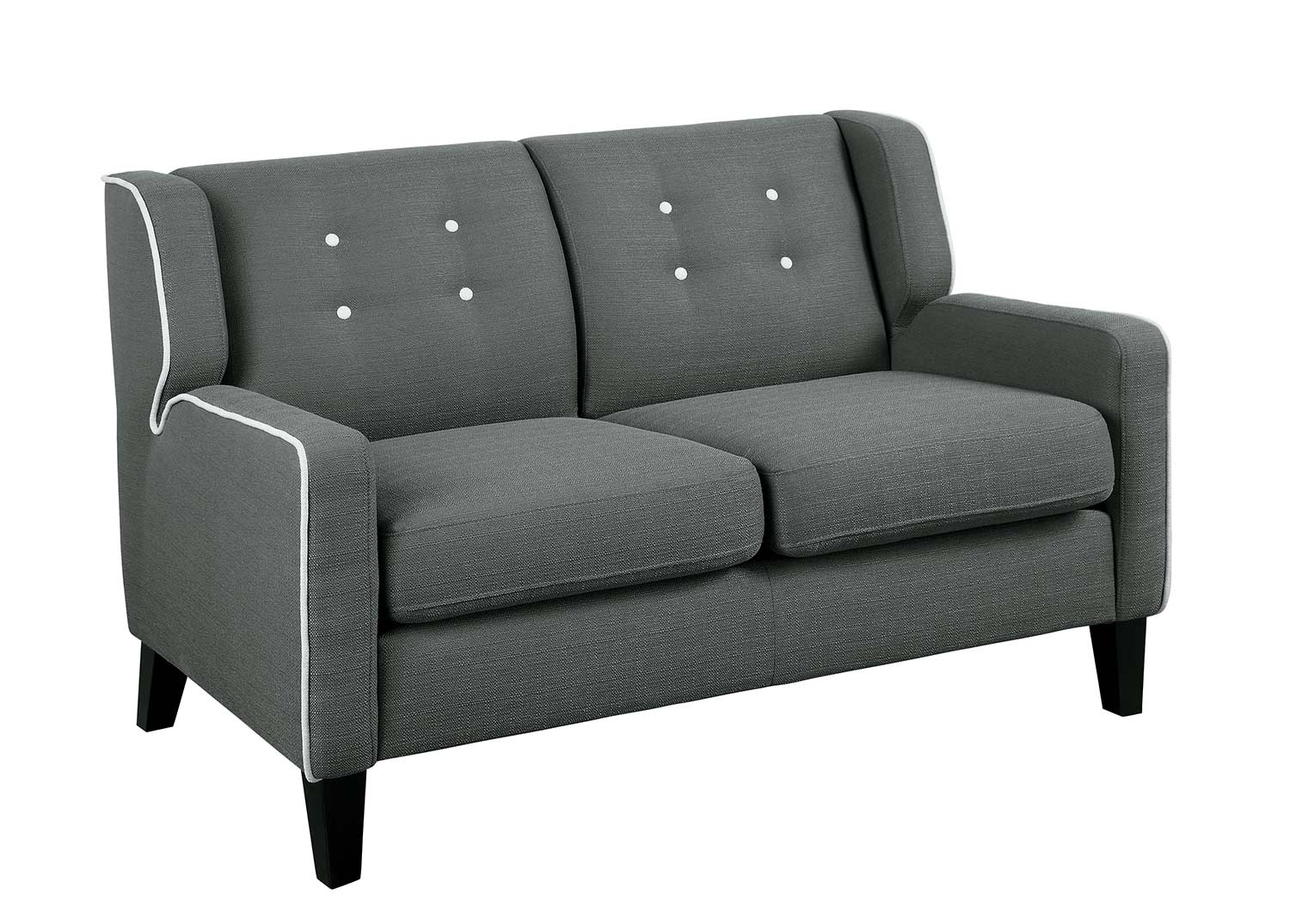 Homelegance Roweena Love Seat - Dark Gray
