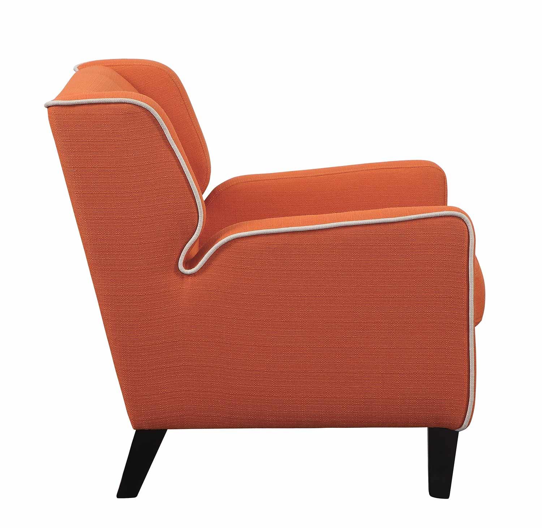 Homelegance Roweena Accent Chair - Orange