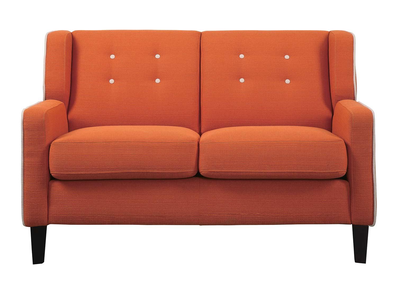Homelegance Roweena Love Seat - Orange