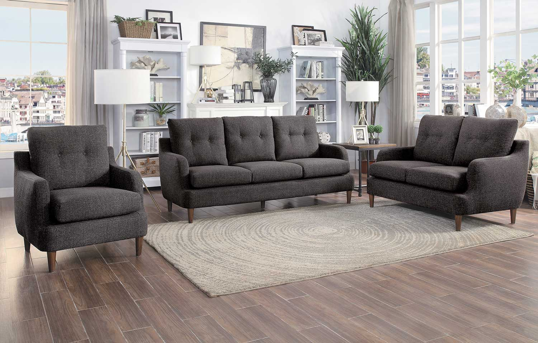 Homelegance Cagle Sofa Set - Chocolate