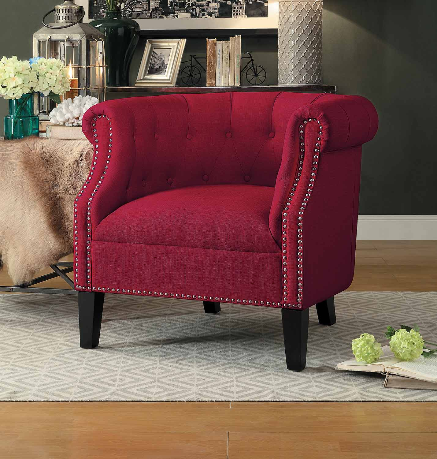 Homelegance Karlock Accent Chair - Red