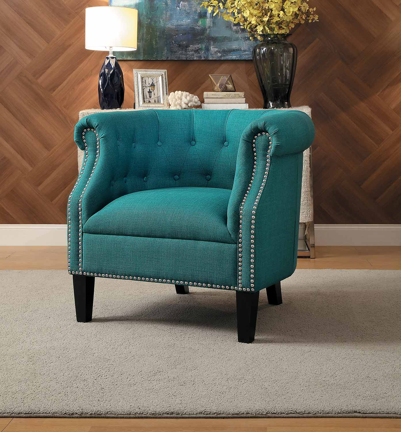 Homelegance Karlock Accent Chair - Teal