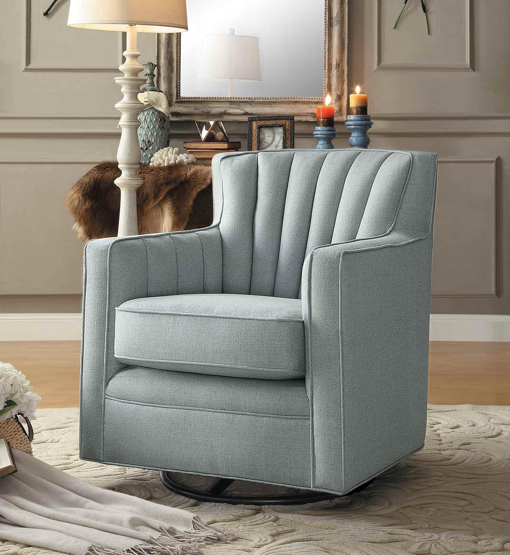 Homelegance Flett Swivel Chair - Platinum