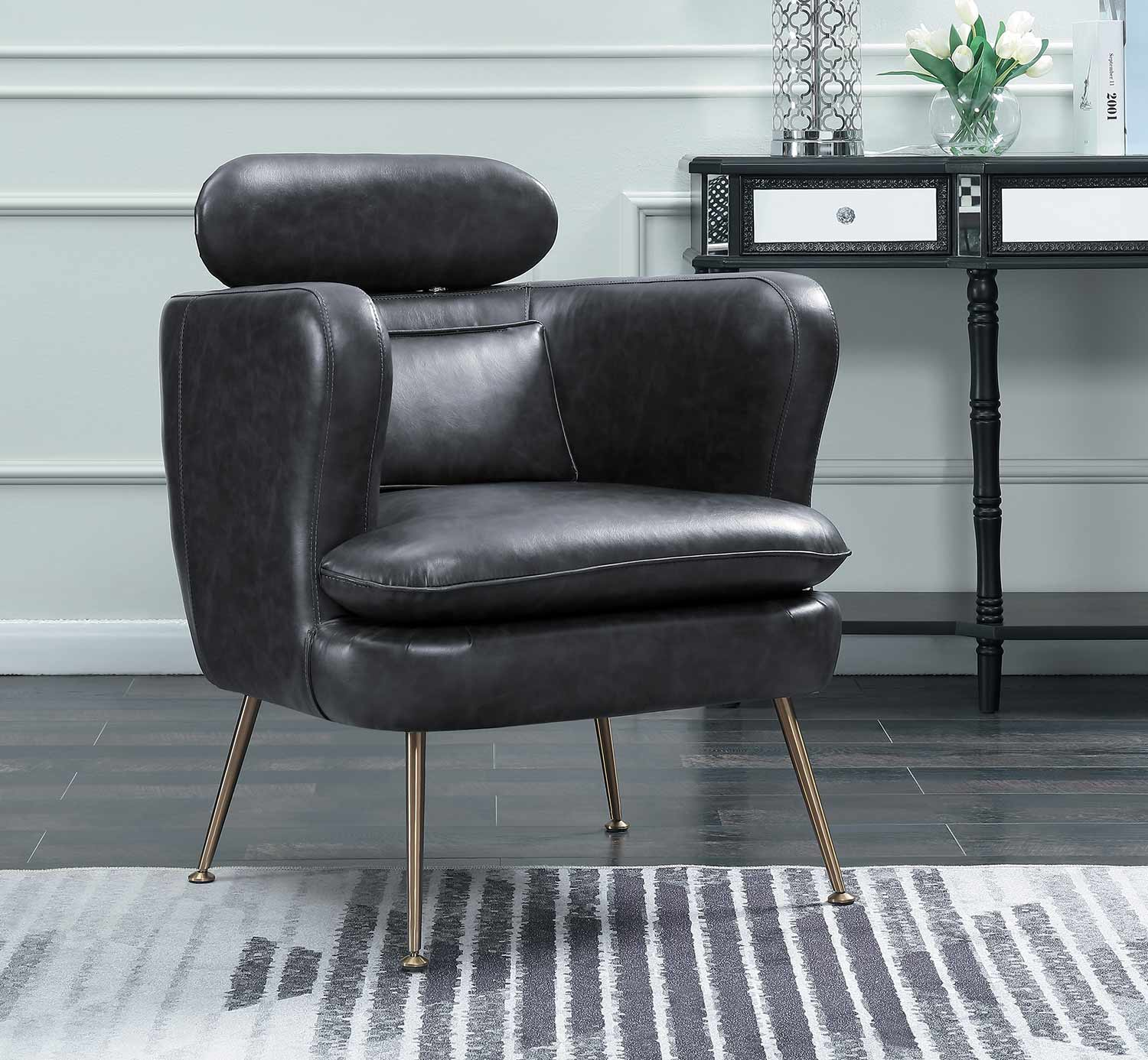 Homelegance Orbit Accent Chair - Dark Gray