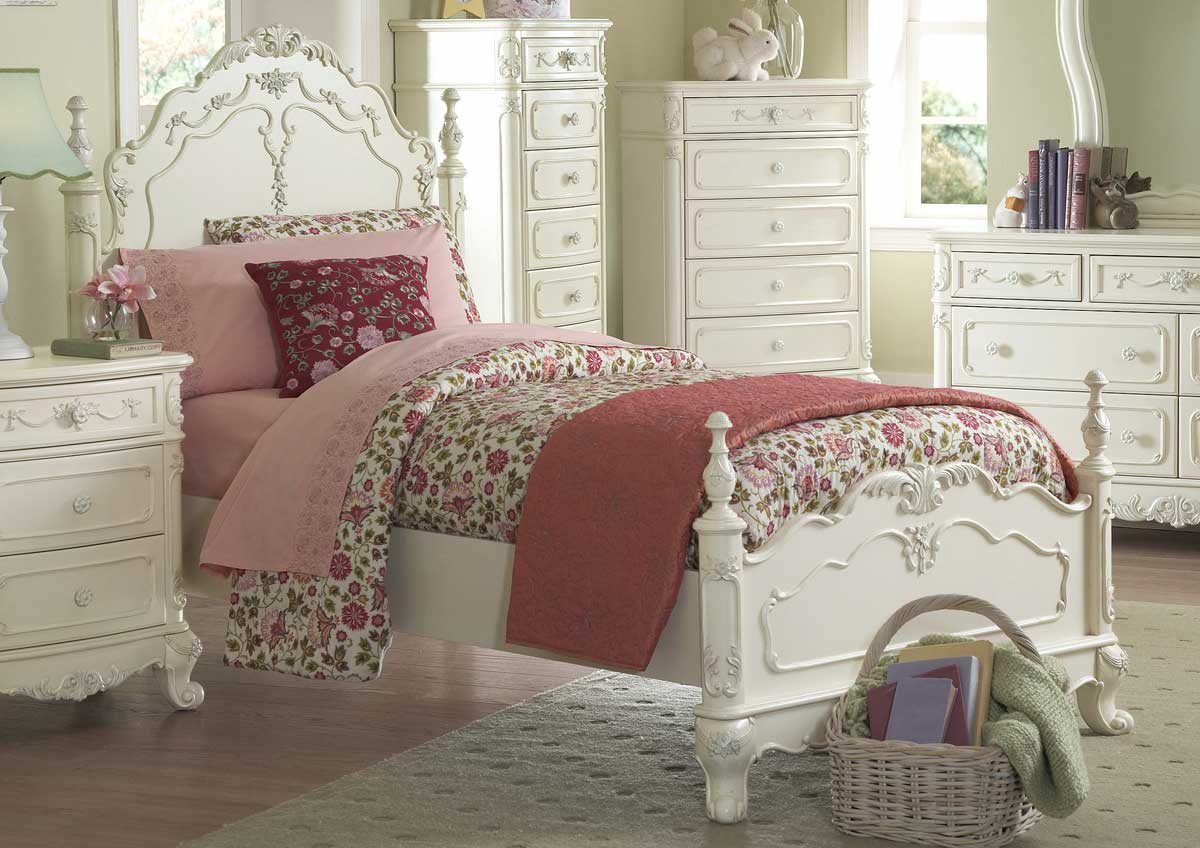 Homelegance cinderella bedroom collection ecru b1386 - Deco chambre jeune fille ...