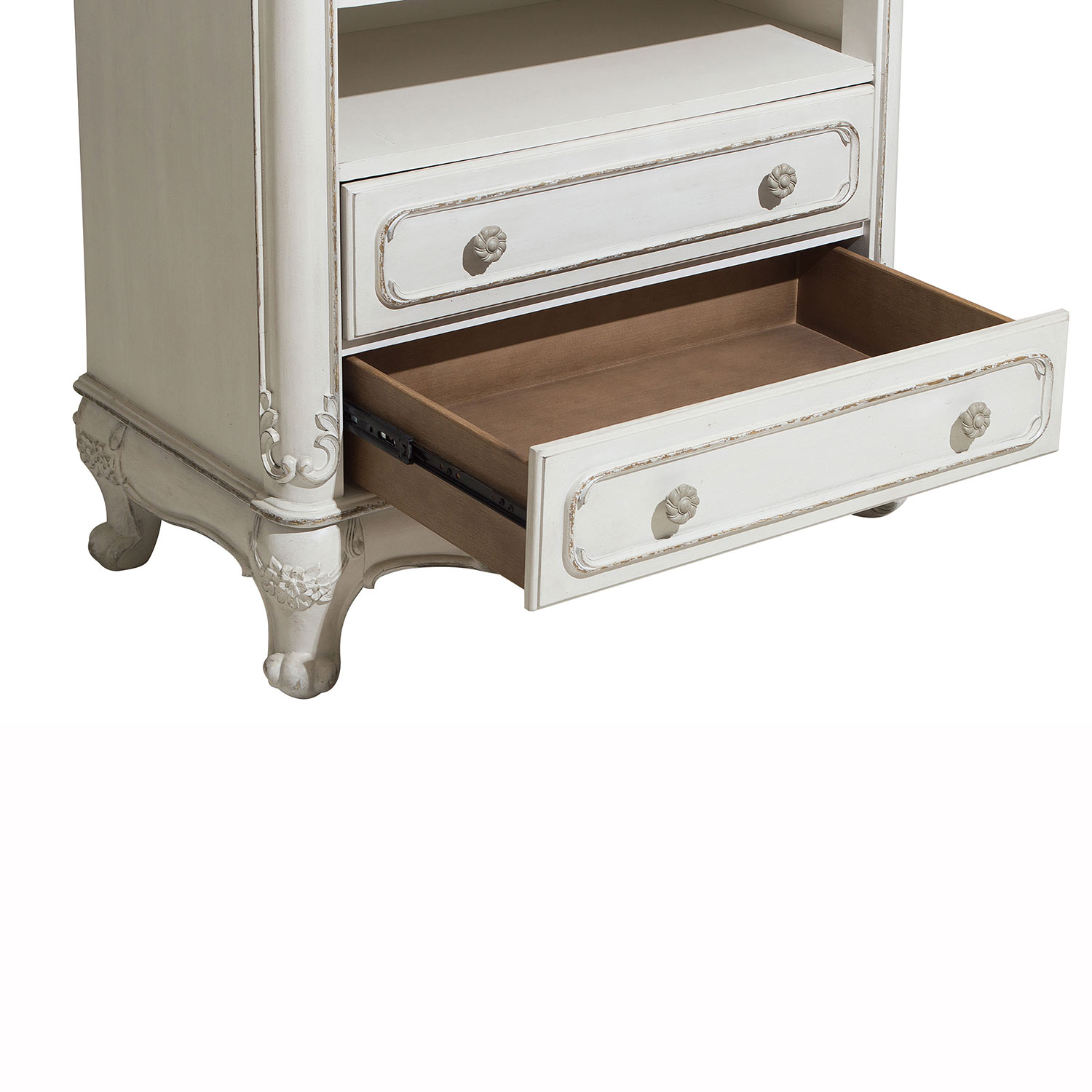 Homelegance Cinderella Armoire - Antique White with Gray Rub-Through