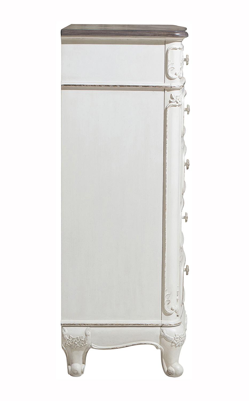 Homelegance Cinderella Chest - Antique White with Gray Rub-Through