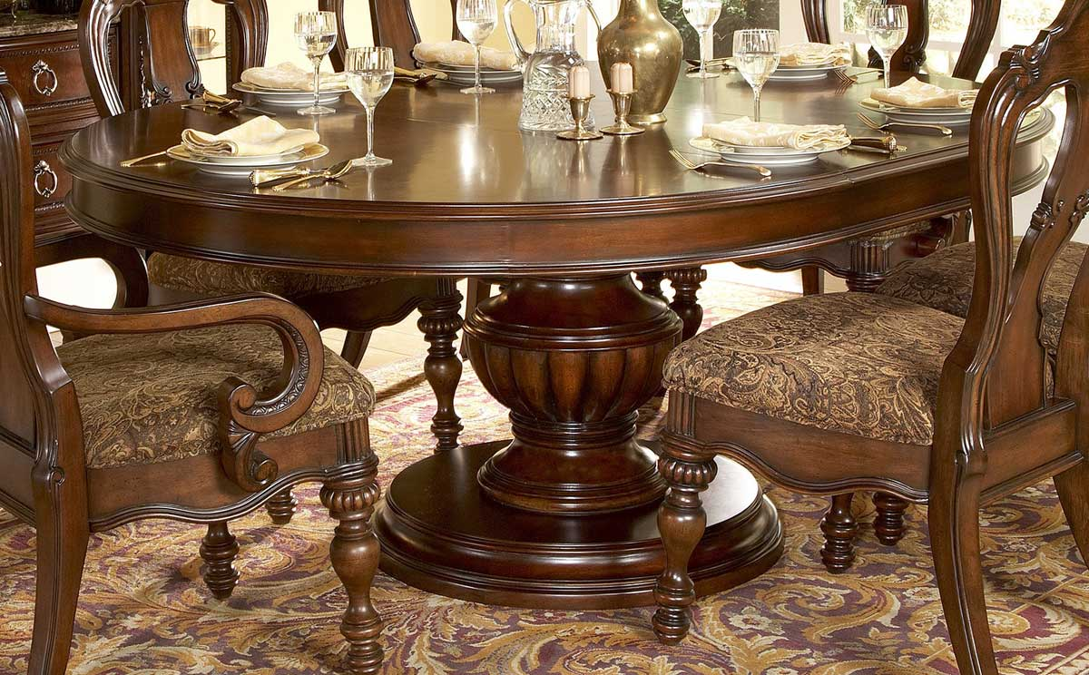 Homelegance prenzo round dining collection d1390 76 for Fancy round dining table