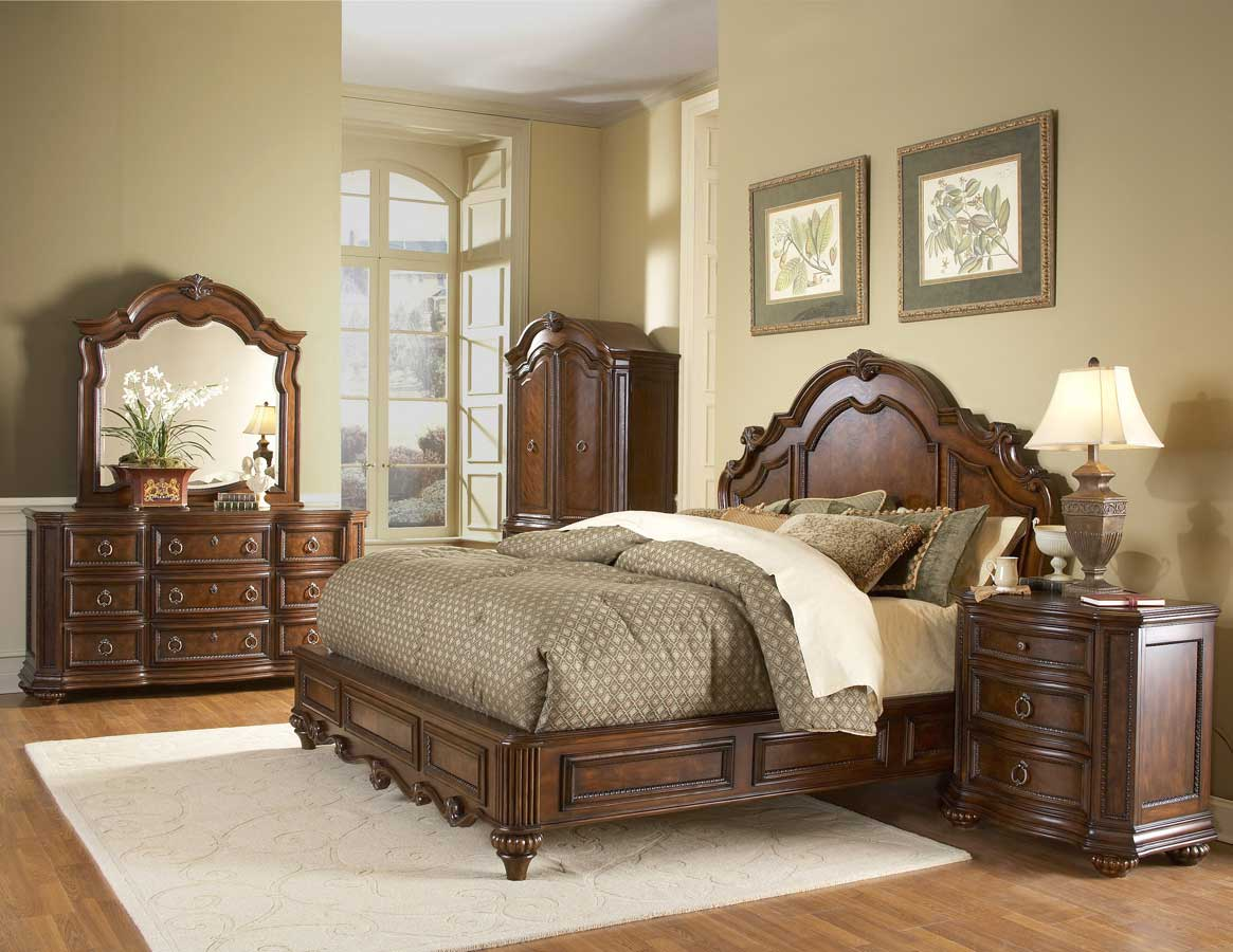 Homelegance prenzo armoire 1390 7 for Full bed bedroom sets