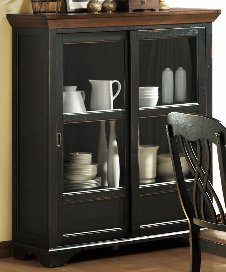 Homelegance Ohana Black Curio Cabinet