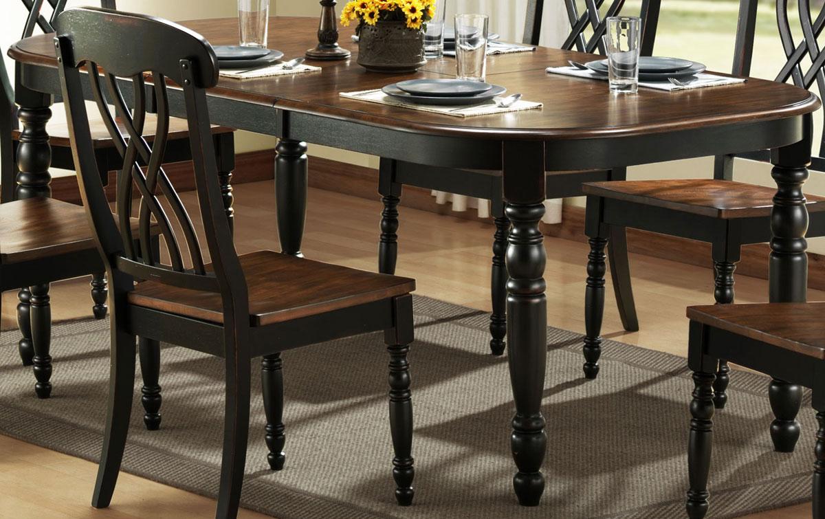 Homelegance Ohana Black Dining Table 1393BK-78 | Homelegance
