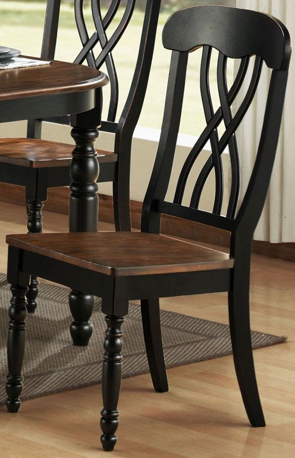Homelegance Ohana Black Side Chair