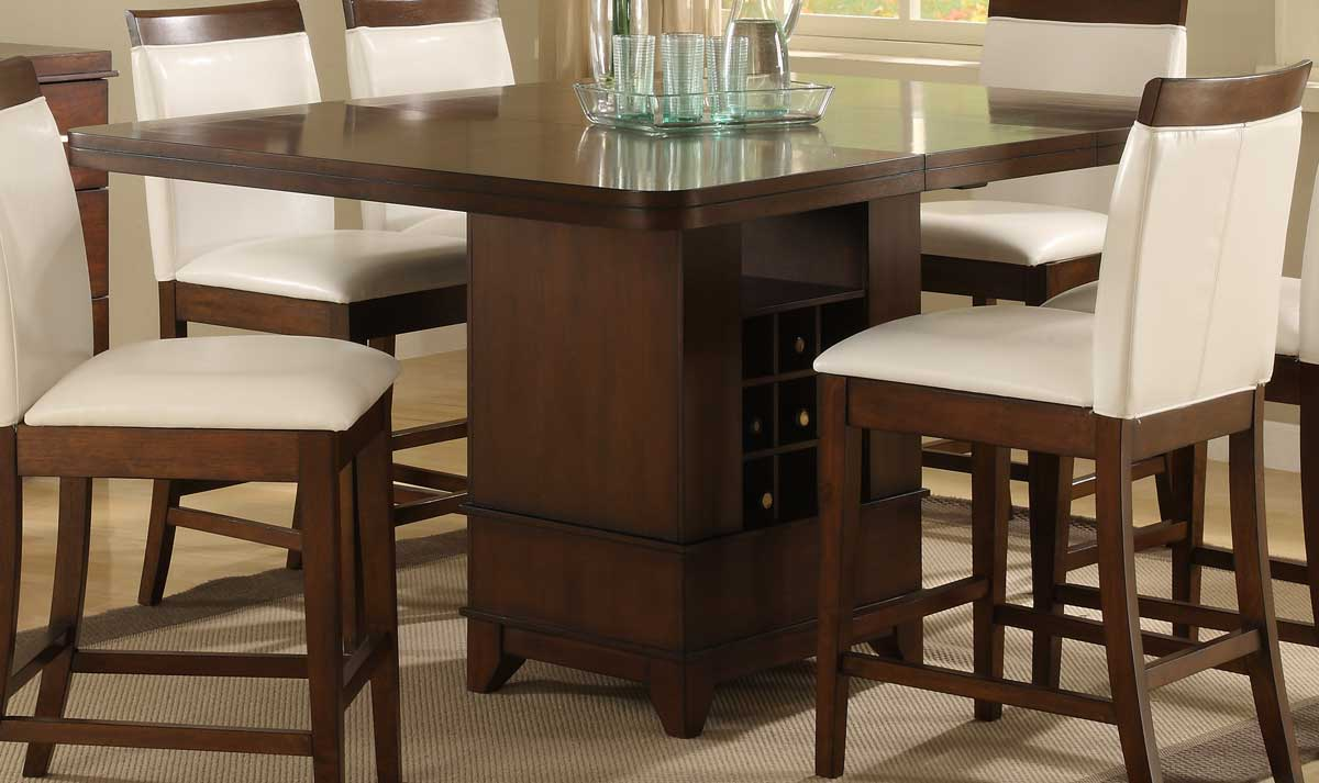 Homelegance Elmhurst Counter Height Table with Wine Storage 1410 ...