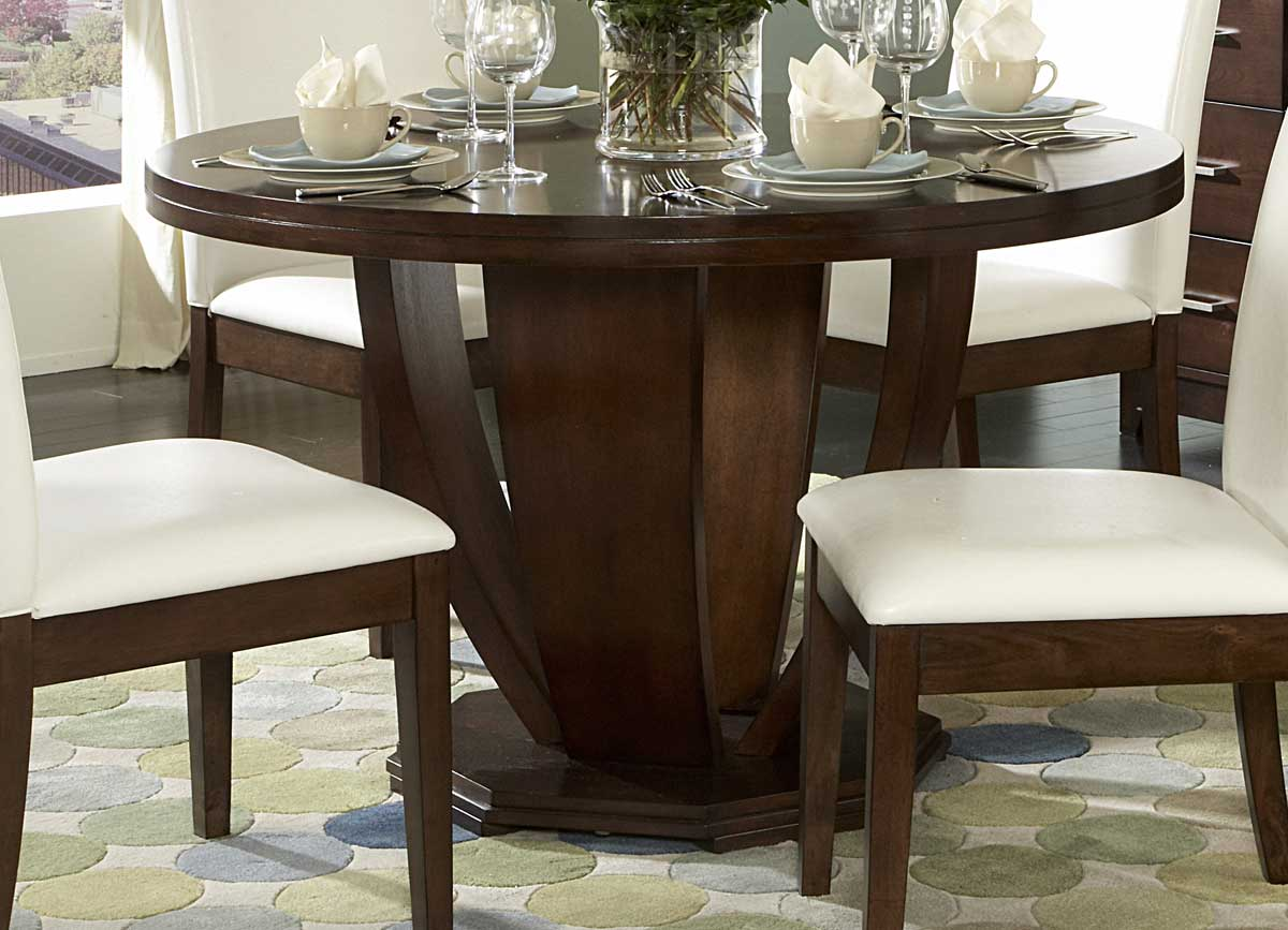 Homelegance Elmhurst Round Dining Table & Homelegance Elmhurst Round Dining Table 1410-48 ...