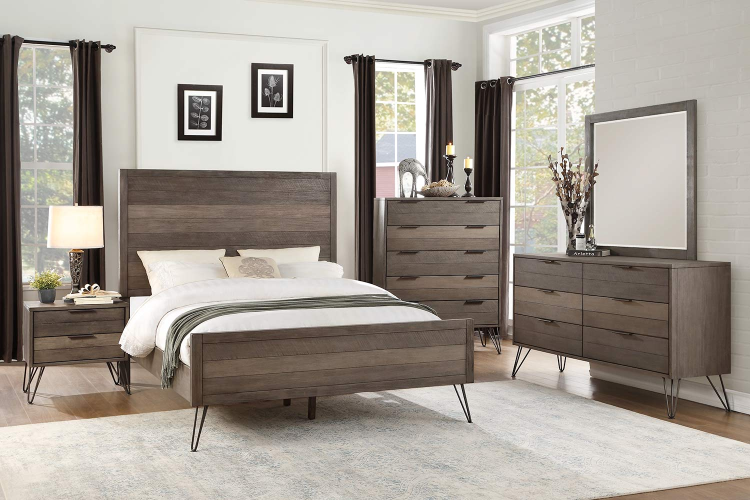 Homelegance Urbanite Bedroom Set - Brown-Gray