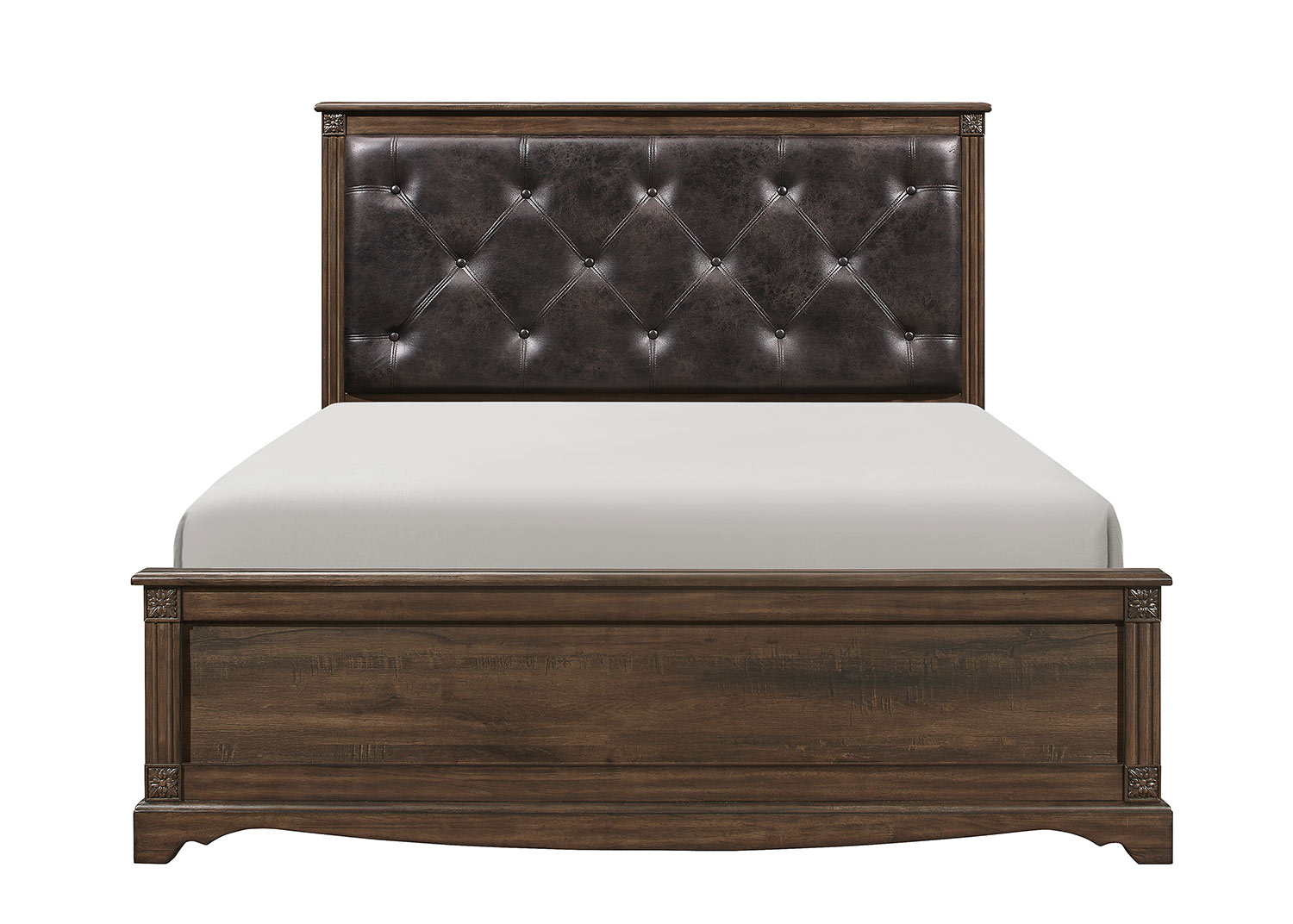 Homelegance Beaver Creek Bed - Rustic Brown