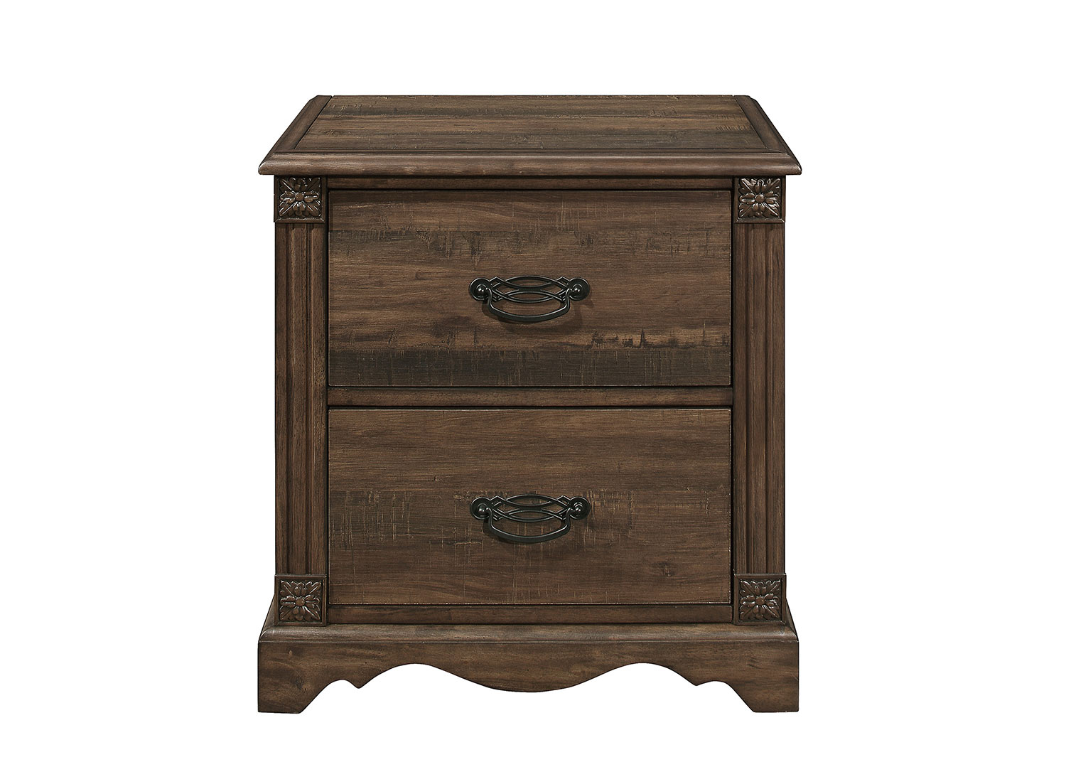 Homelegance Beaver Creek Night Stand - Rustic Brown