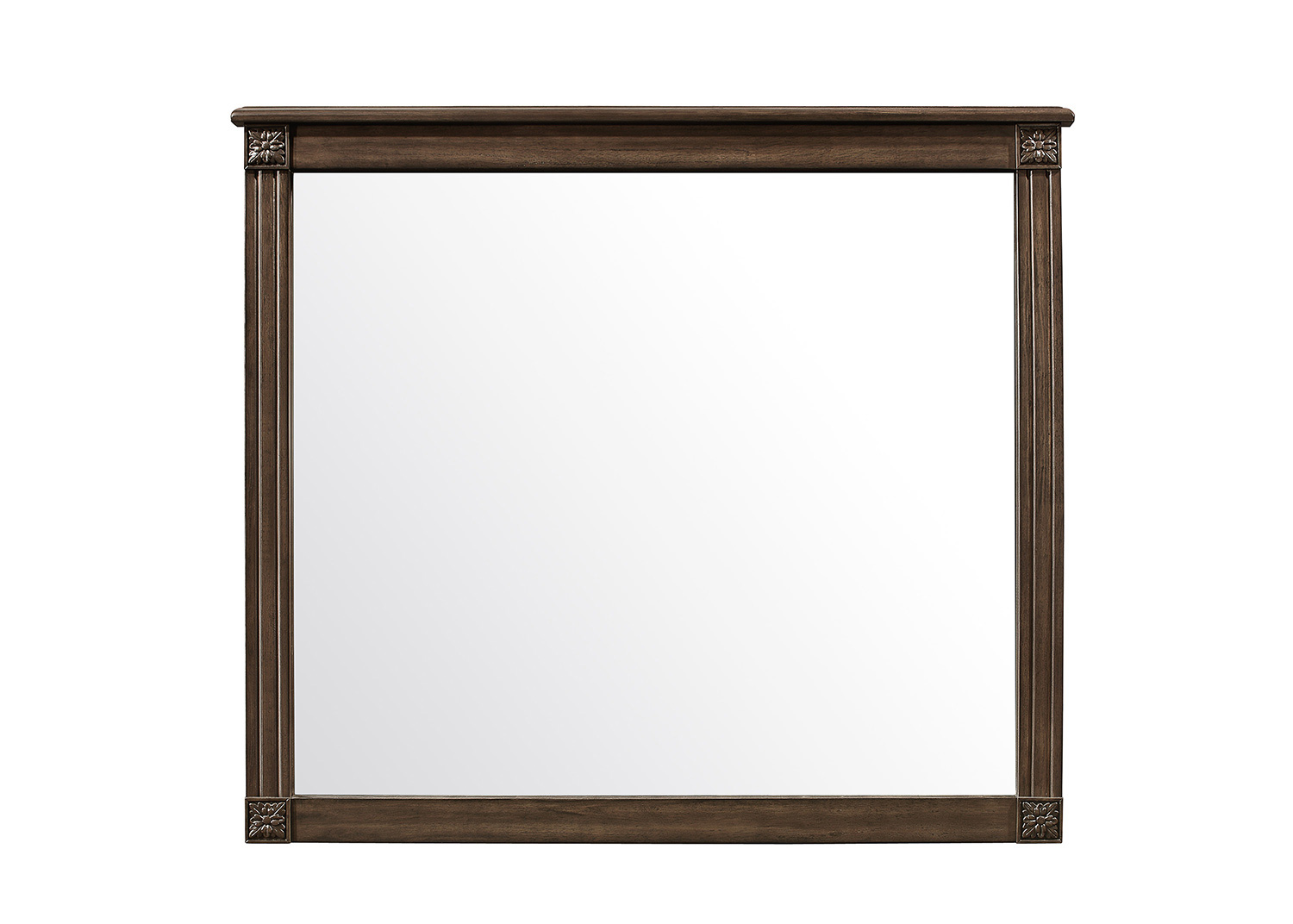 Homelegance Beaver Creek Mirror - Rustic Brown