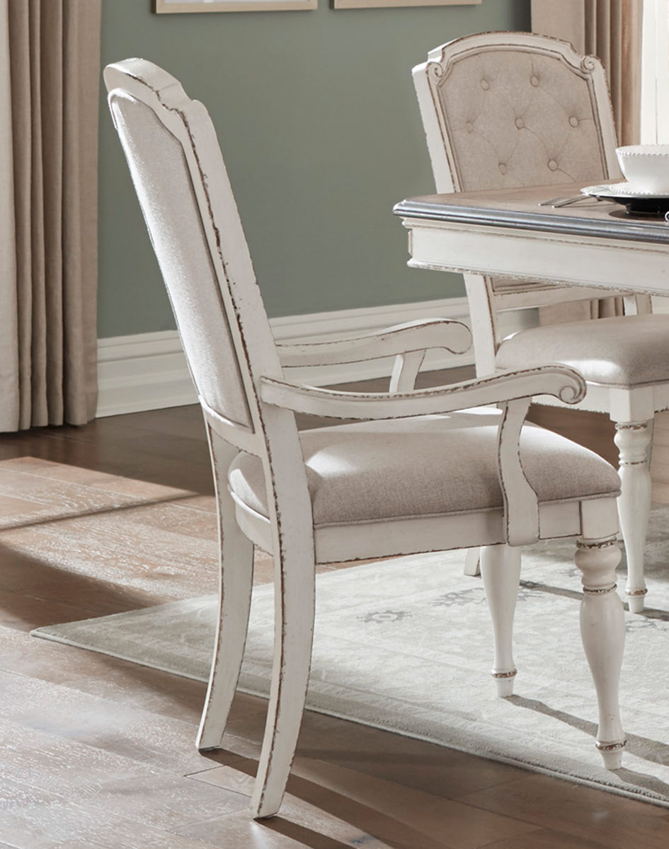 Homelegance Willowick Arm Chair - Antique White