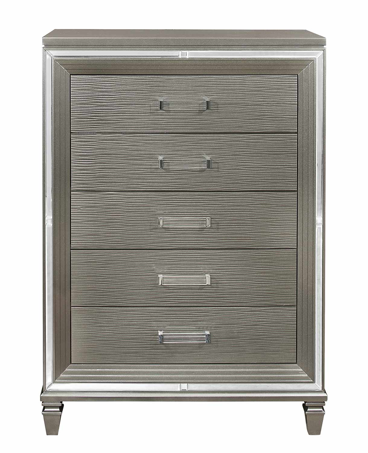 Homelegance Tamsin Chest - Silver-Gray Metallic
