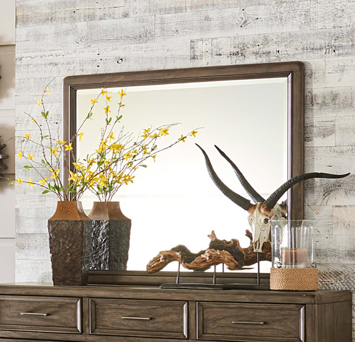 Homelegance Seldovia Mirror - Brown Gray