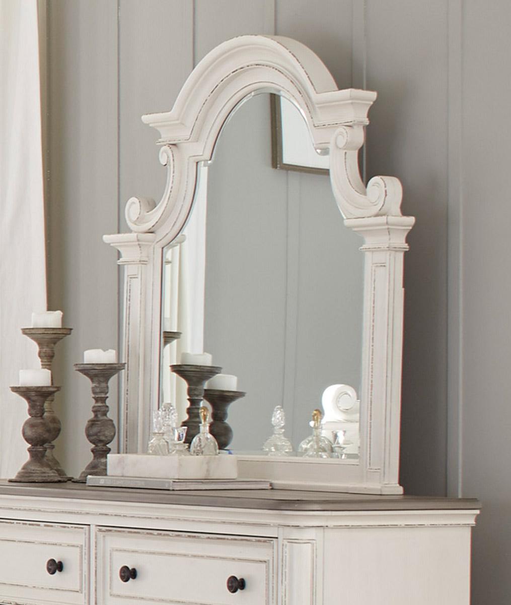 Homelegance Baylesford Mirror - Antique White Rub-Through Finish