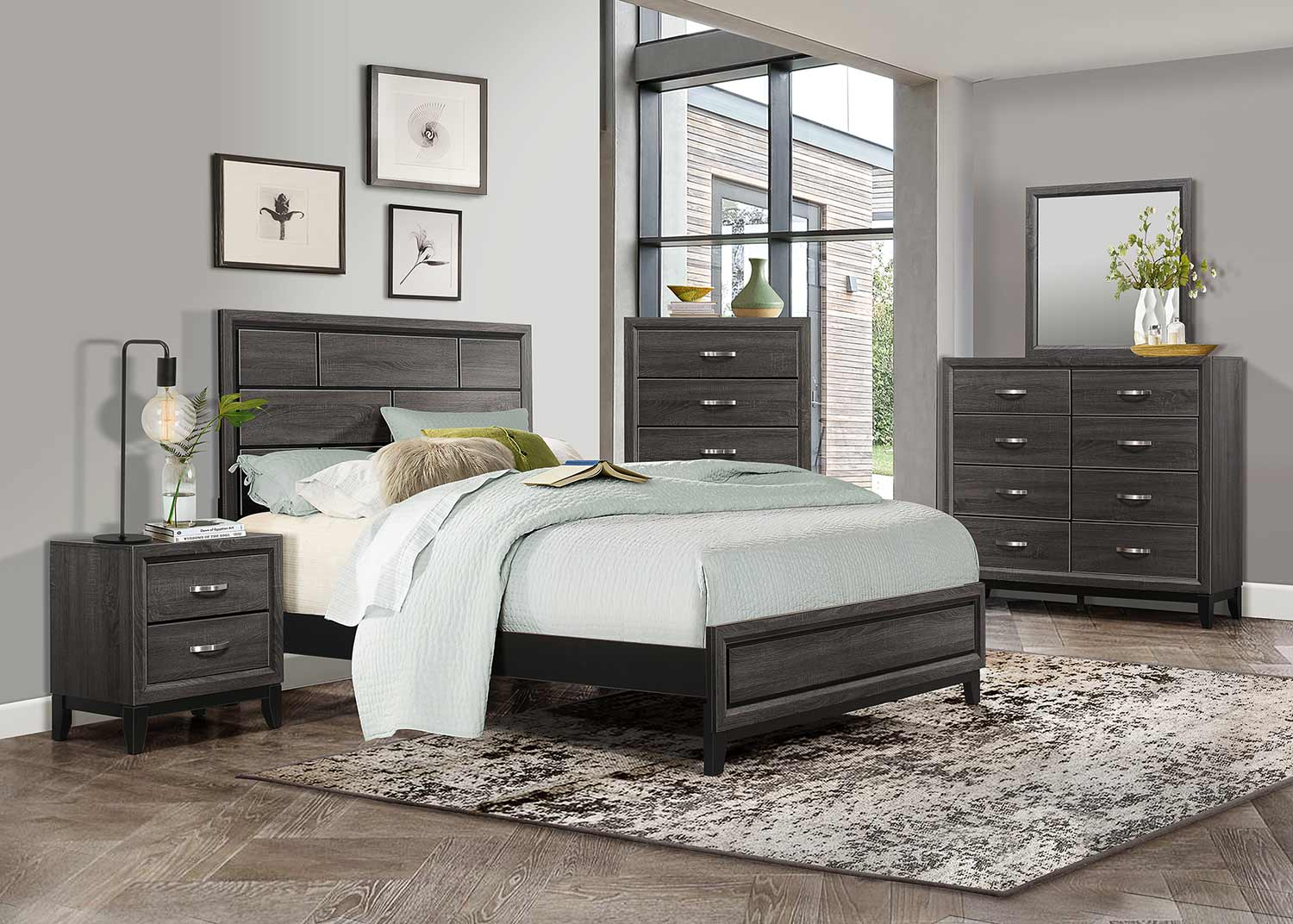 Homelegance Davi Bedroom Set - Gray