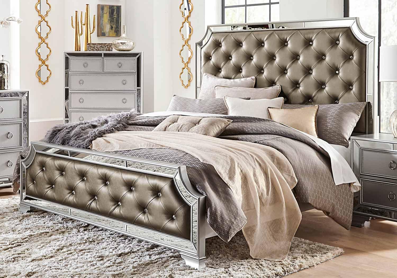 Homelegance Avondale Bed - Silver