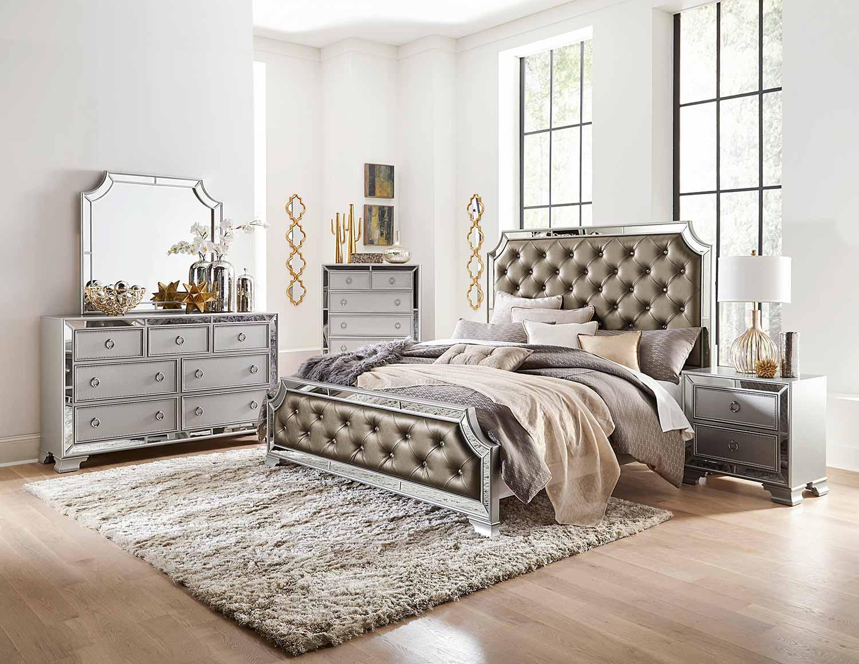 Homelegance Avondale Bedroom Set - Silver
