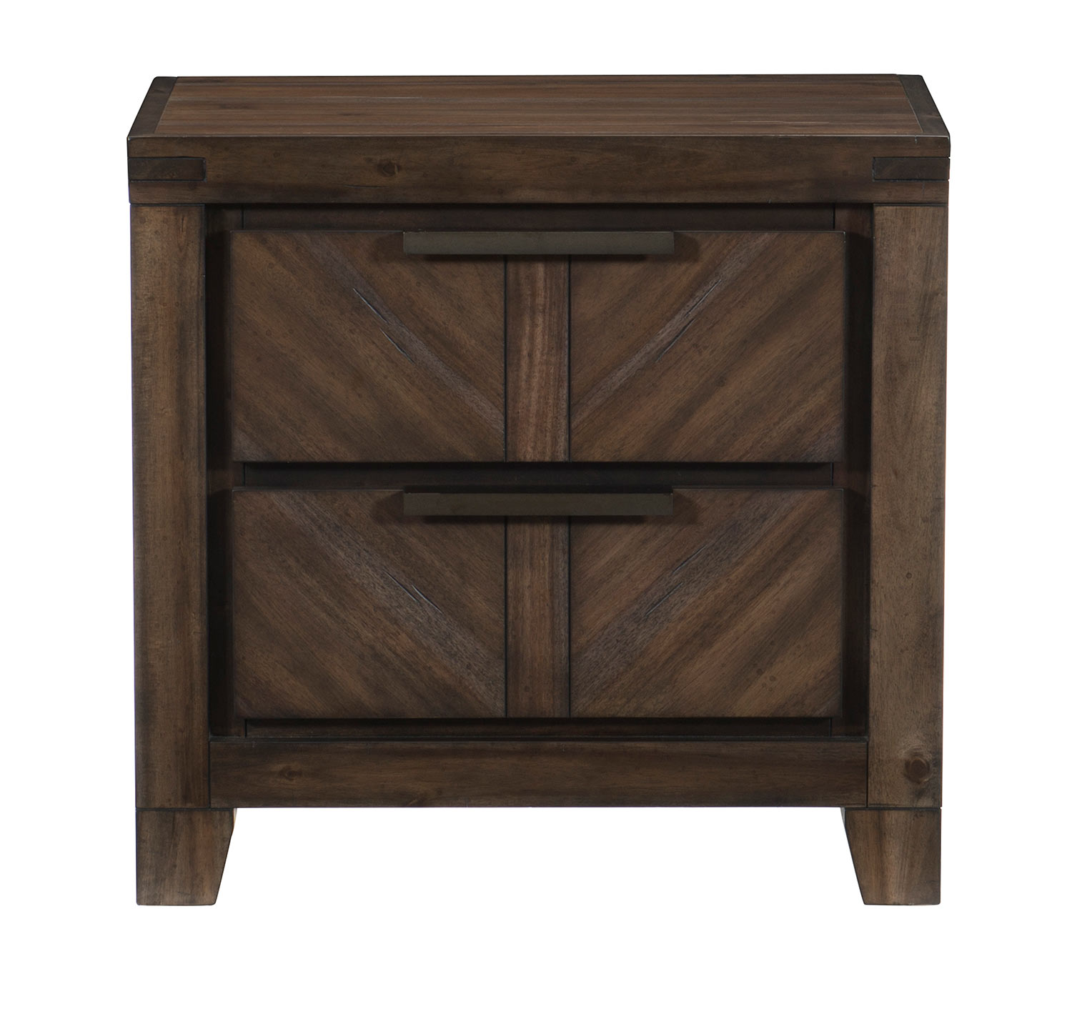 Homelegance Parnell Night Stand - Rustic Cherry