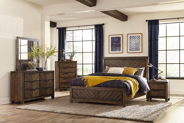 Homelegance Parnell Bedroom Set - Rustic Cherry