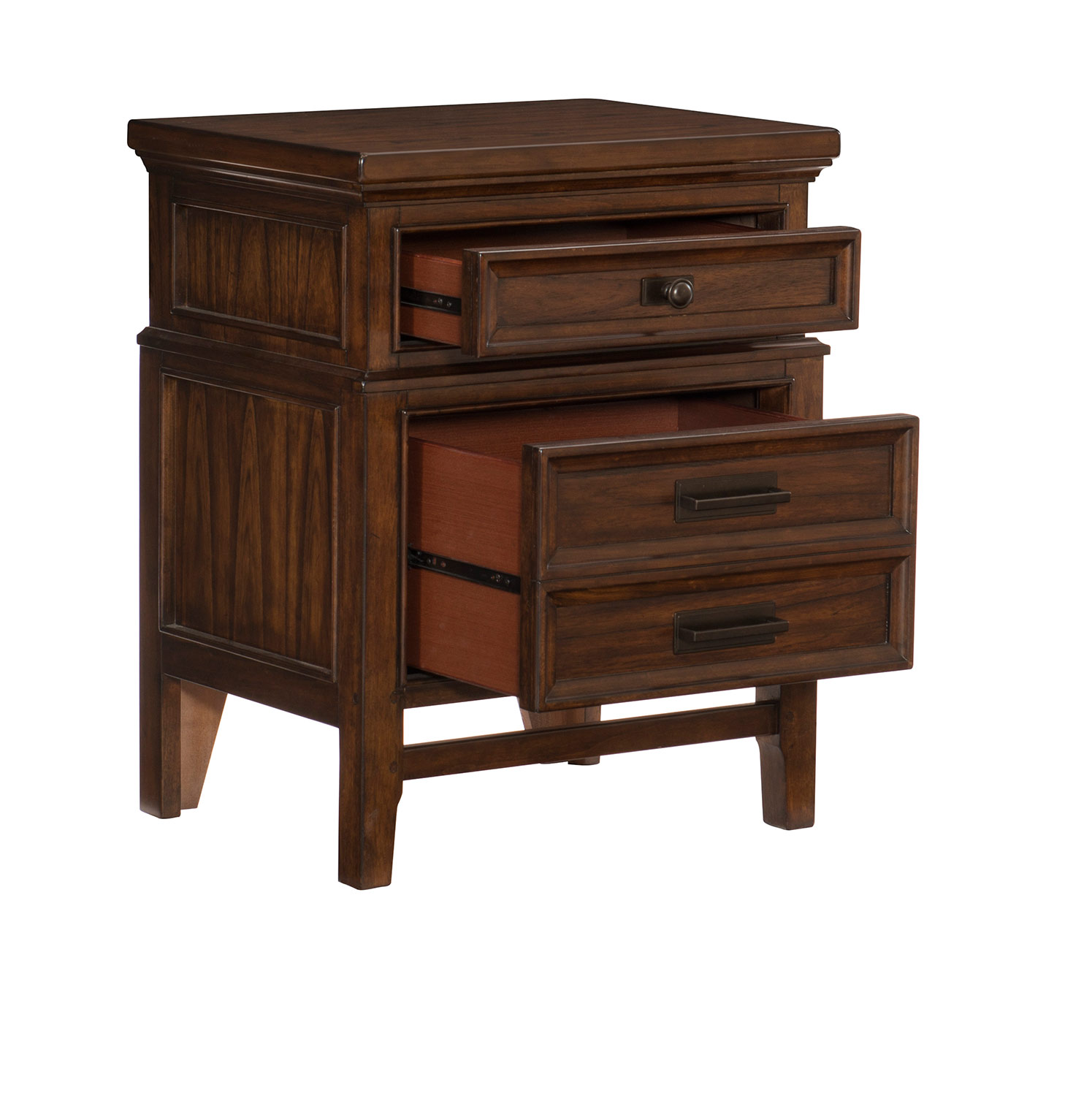 Homelegance Frazier Park Night Stand - Brown Cherry
