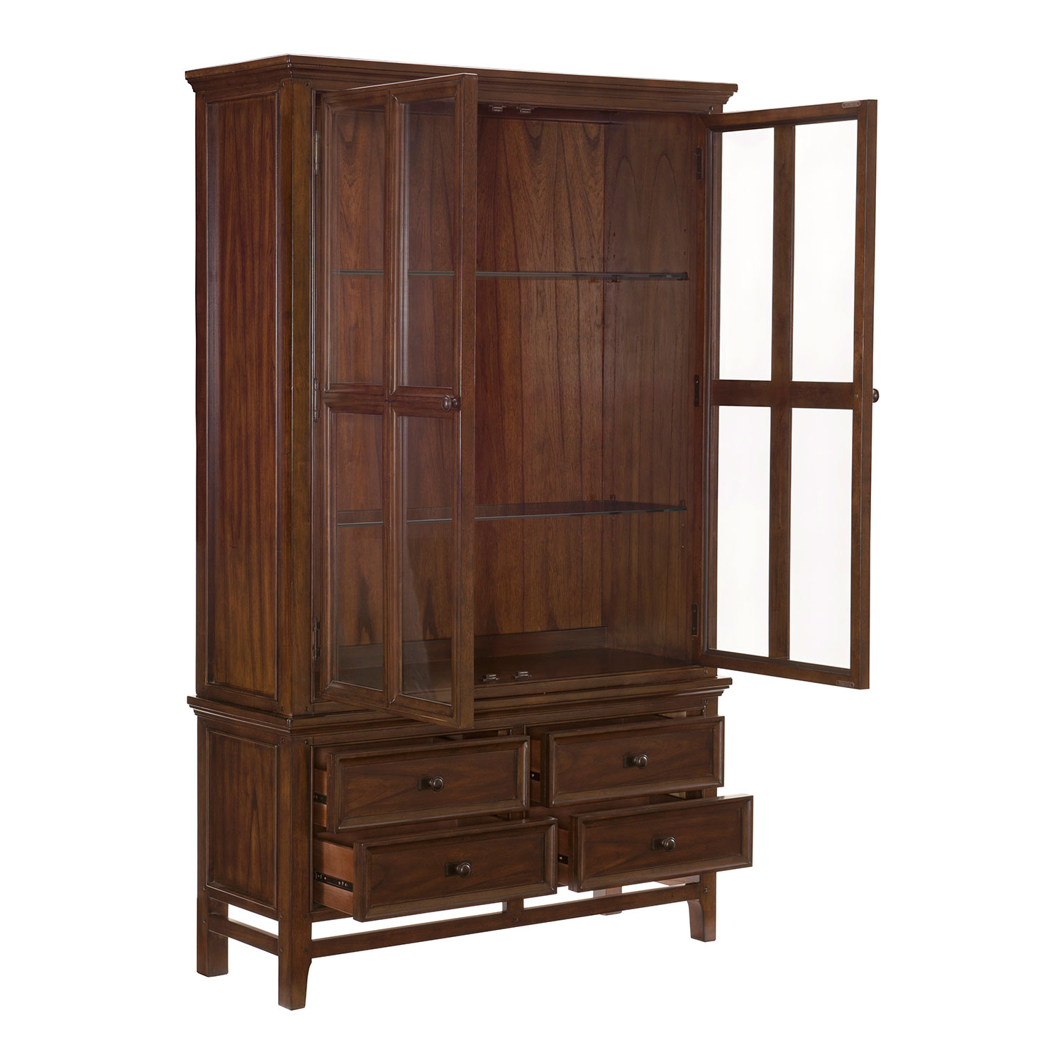 Homelegance Frazier China Cabinet - Brown Cherry