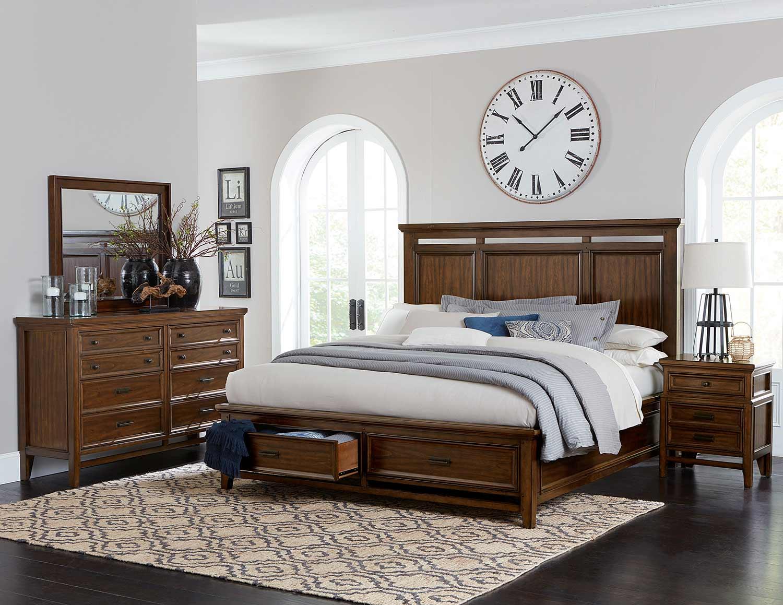 Homelegance Frazier Park Bedroom Set - Brown Cherry
