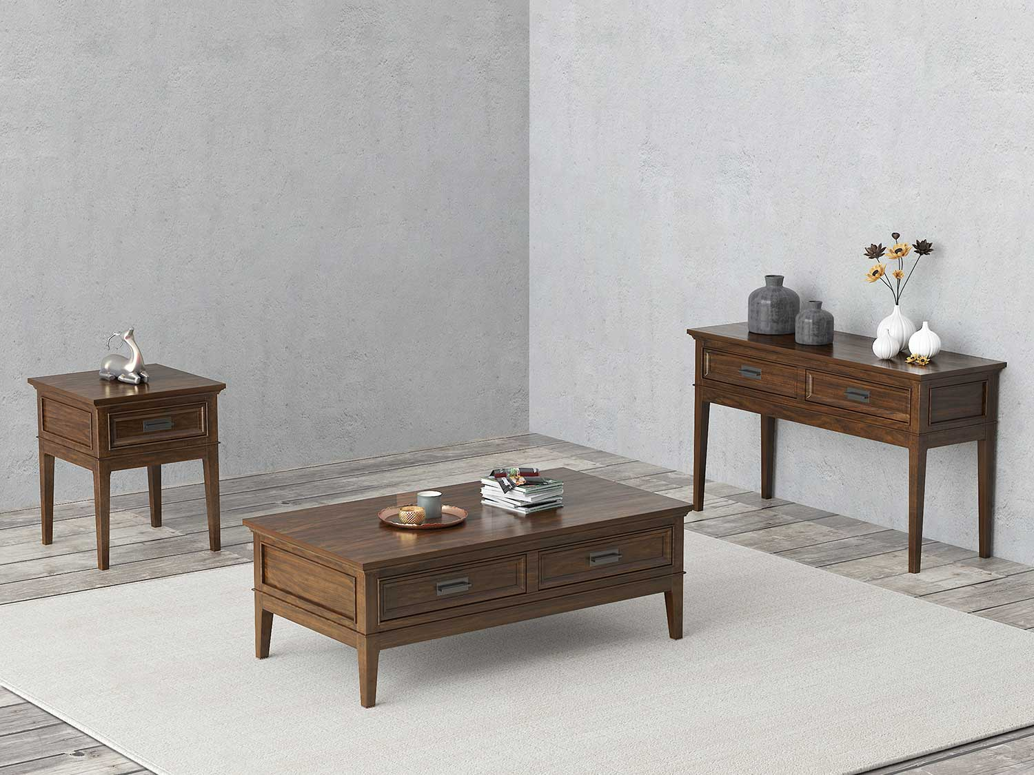 Homelegance Frazier Park Collection - Brown Cherry