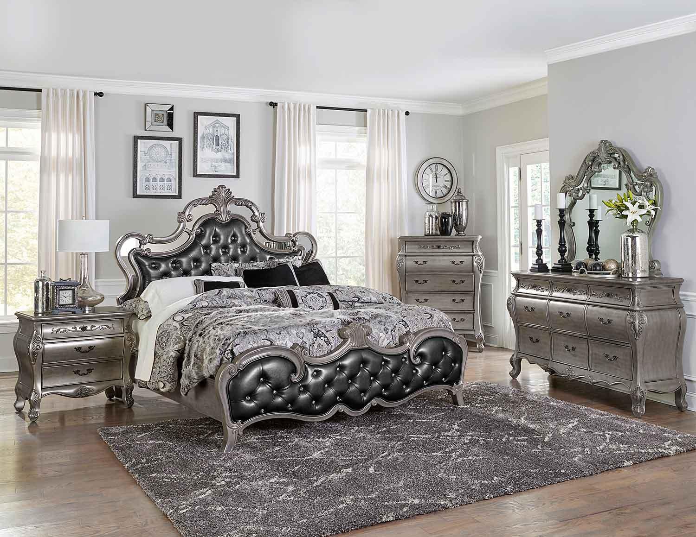 Homelegance Brigette Bedroom Set - Silver-Gray