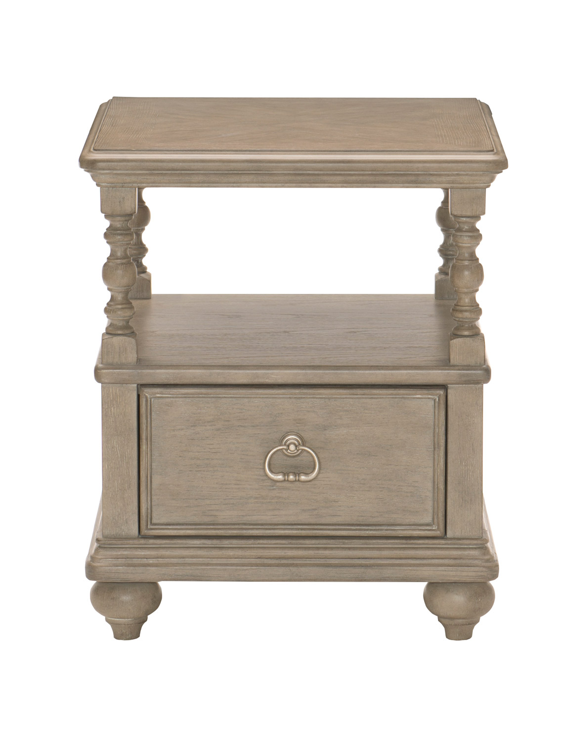 Homelegance Grayling Down End Table with Functional Drawer - Driftwood Gray