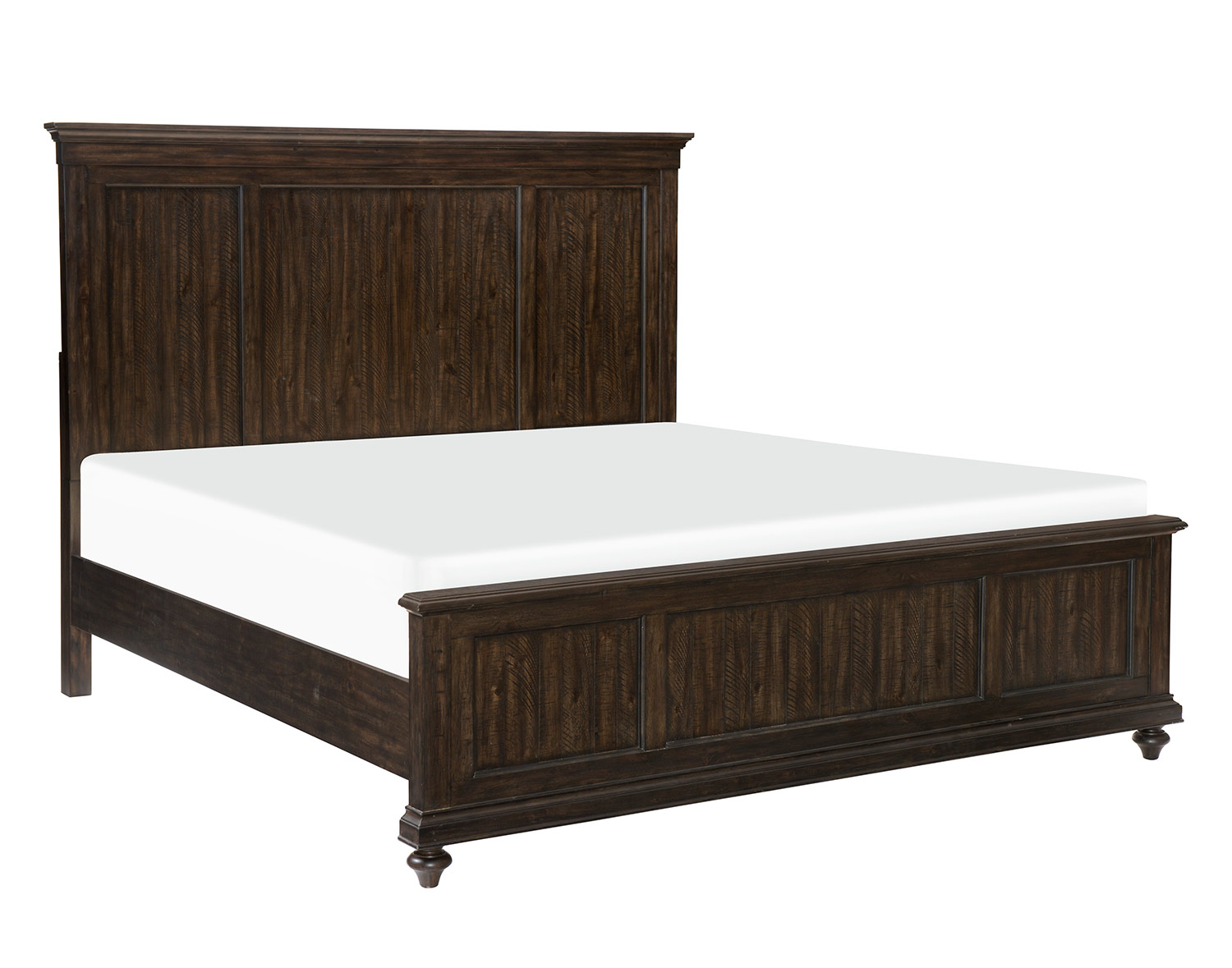 Homelegance Cardano Bed - Driftwood Charcoal over Acacia Solids and Veneers