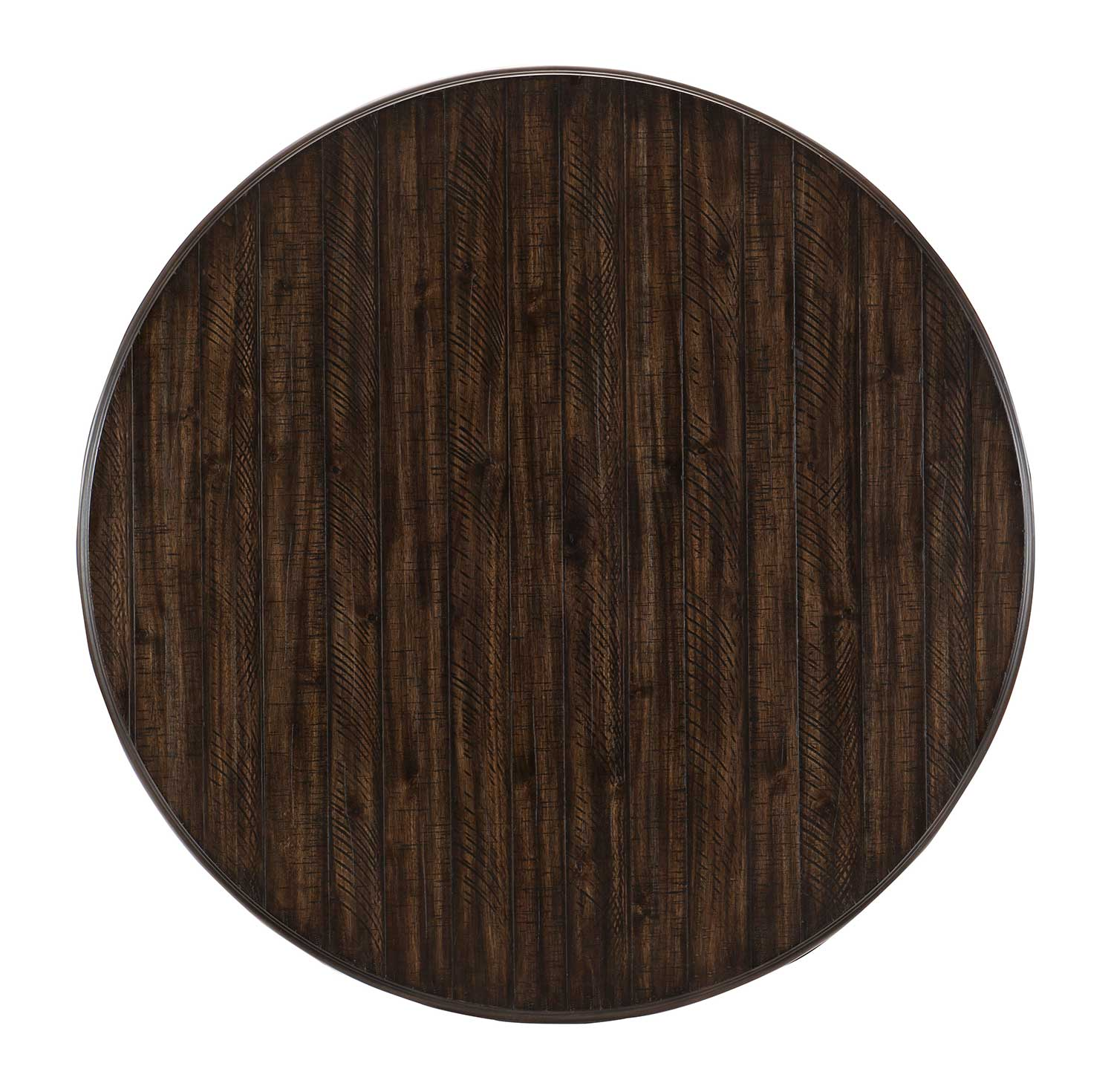 Homelegance Cardano Round Dining Table - Driftwood Charcoal