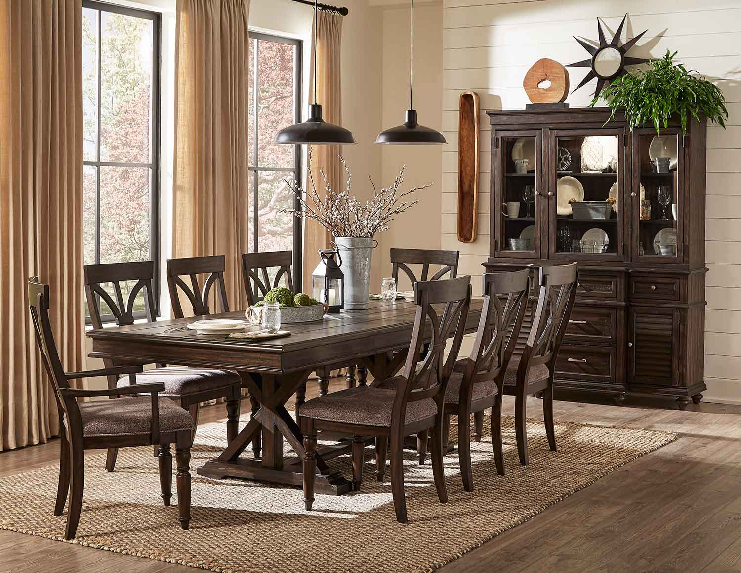 Homelegance Cardano Dining Set - Driftwood Charcoal