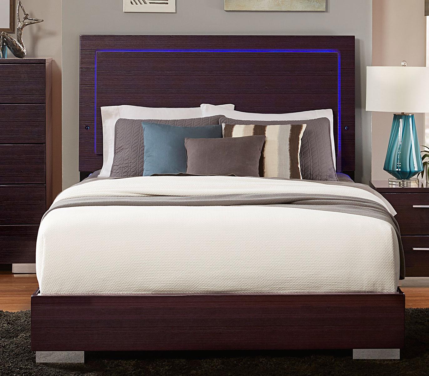 Homelegance Moritz Bed - LED Lighting - High Gloss