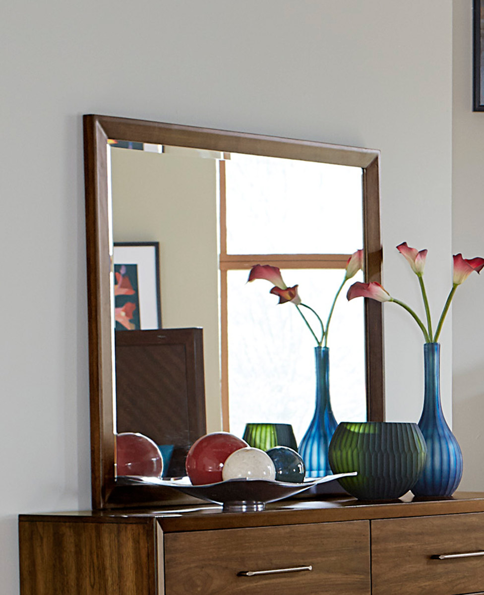 Homelegance Raku Mirror - Warm Walnut