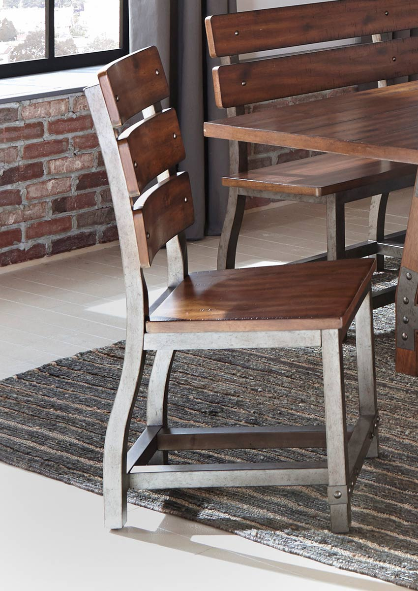 Homelegance Holverson Side Chair - Rustic Brown