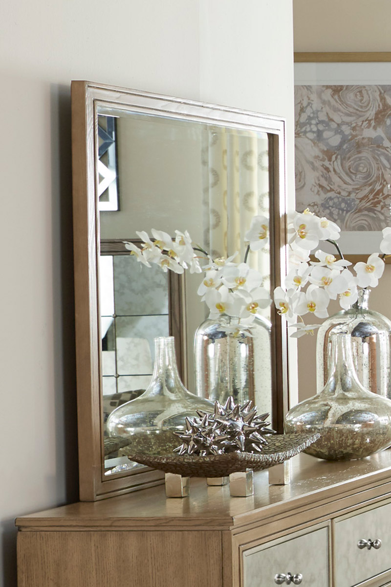 Homelegance Kalette Mirror - Light Oak