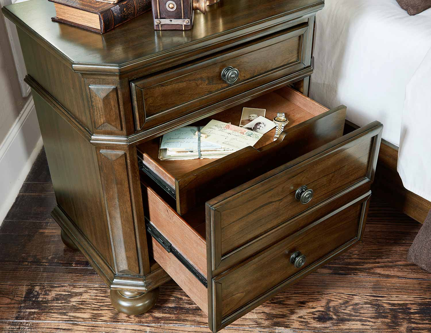 Homelegance Langsat Night Stand - Brown