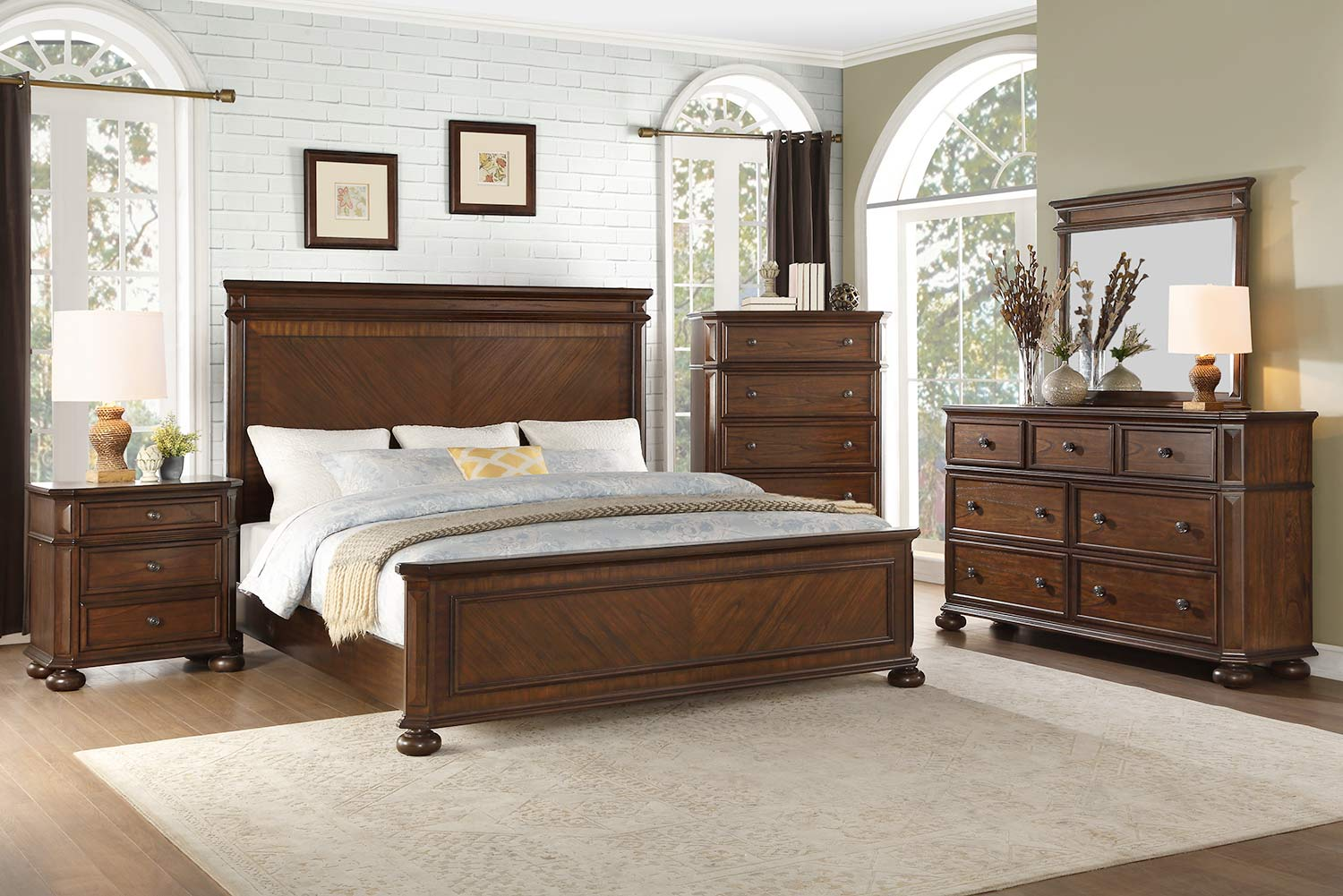 Homelegance Langsat Panel Bedroom Set - Brown