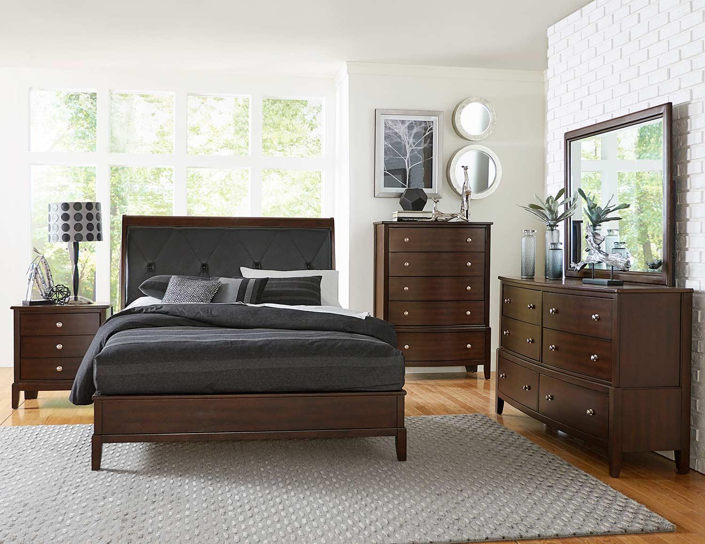 Homelegance Cotterill Bedroom Set - Cherry over Birch Veneer