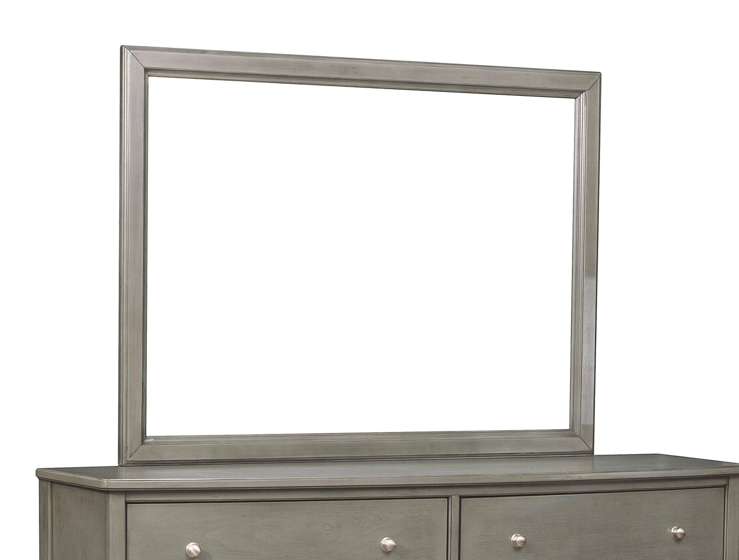 Homelegance Cotterill Mirror - Gray Finish over Birch Veneer